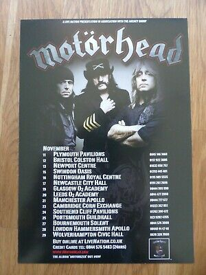 MOTORHEAD Original UK Tour Flyer November 2009 #2 - W/ The Damned & Girlschool • 1.99£