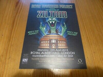 DEVIN TOWNSEND PROJECT - Z2 Royal Albert Hall, London 2015 Flyer - NEW • 1.99£