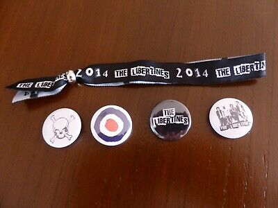 LIBERTINES Official Wristband And 4x Badge Set 2010 - Pete Doherty • 3.99£