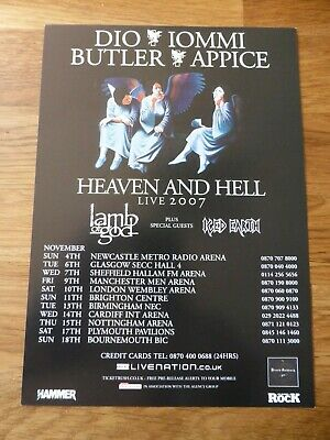 HEAVEN AND HELL - UK Tour 2007 With LAMB OF GOD & ICED EARTH - Black Sabbath • 1.99£