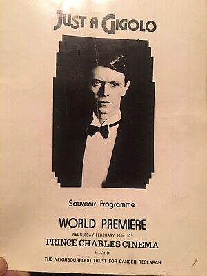 David Bowie Programme Just A Gigolo • 40£