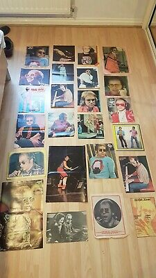 Very Rare Elton John Memorabilia Posters Cuttings • 20£