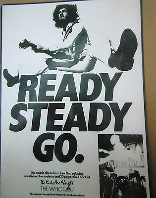 THE WHO  Promo Material  For THE KIDS ARE ALRIGHT - READY STEADY GO.  • 80£