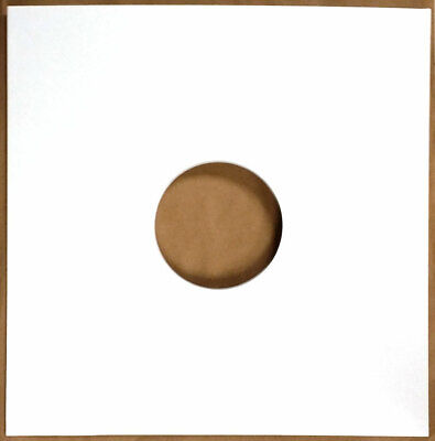 50 12  Highest Quality Gloss White Card Record Sleeves Covers / Disco Bags New • 17.79£