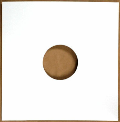 50 12  Highest Quality Gloss White Card Record Sleeves Covers / Disco Bags New • 16.79£