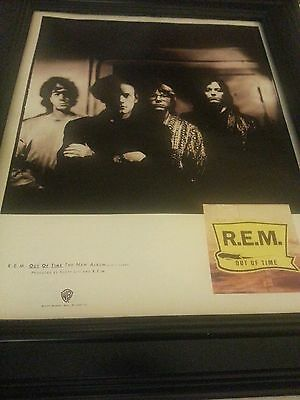 R.E.M. Rare Out Of Time Rare Promo Poster Ad Framed! Printed Once! • 35.65£