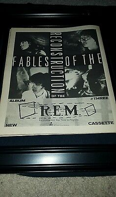 R.E.M. Fables Of The Reconstruction Rare Original Promo Poster Ad Framed!  • 35.65£