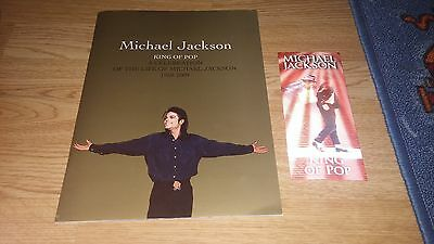 Michael Jackson This Is It Ticket & Memorial Programme Book O2 Arena 10/08/2009 • 80£