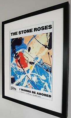 Stone Roses Luxury Framed-I Wanna Be Adored Certificate NEW Ian Brown • 38.99£