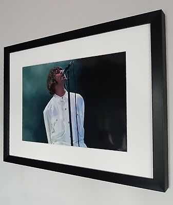 Liam Gallagher Photo-Luxury Framed-Oasis-Knebworth-Stone Roses-Live Forever • 29.99£