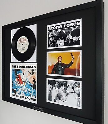 The Stone Roses Original Framed Rare I Wanna Be Adored Vinyl Ian Brown Oasis  • 99.99£