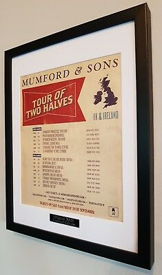 Mumford And Sons Framed Original NME Tour 2012 Plaque Certificate • 33.99£