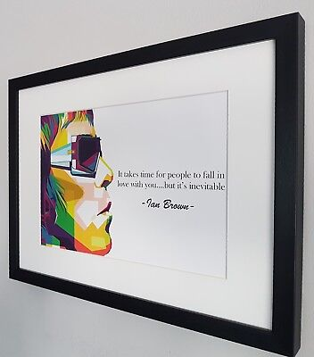 Ian Brown Stone Roses Luxury Framed Limited Edition Print Certificate RARE Oasis • 31.99£