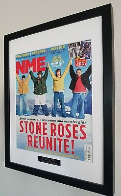The Stone Roses-Framed Original NME-Certificate Ian Brown Oasis Fools Gold • 39.99£