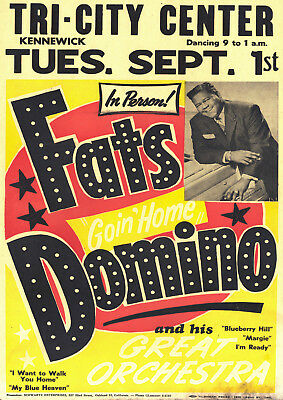 Reproduction Fats Domino Poster, Home Wall Art, Vintage Print • 12£