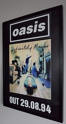 Oasis Definitely Maybe Framed Poster-Limited Edition-Liam Gallagher-Certificate • 74.99£