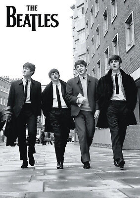 Reproduction The Beatles Poster, Vintage Print, Home Wall Art • 12£