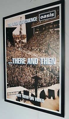 Oasis There And Then Framed Poster-Limited Edition Liam Gallagher Certificate • 99£