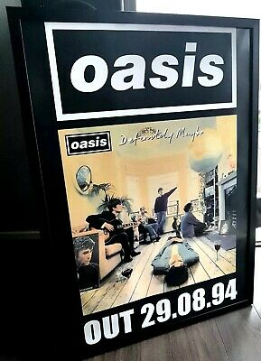 Oasis Definitely Maybe Framed Poster-Limited Edition-Liam Gallagher-Certificate • 57.99£