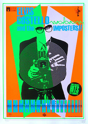 Reproduction Elvis Costello Poster, The Imposters • 13.50£