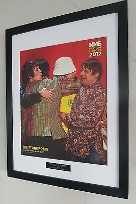 The Stone Roses-Framed Original NME-Certified Ian Brown Oasis I Wanna Be Adored • 35.99£