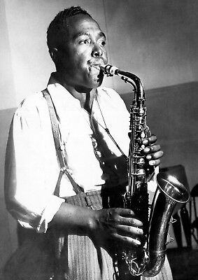 Reproduction  Charlie Parker  Poster, Jazz, Wall Art, Vintage Print • 12£