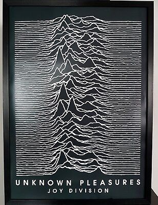 Joy Division-Unknown Pleasures-LUXURY Framed POSTER Certificate-Ian Curtis • 49.99£