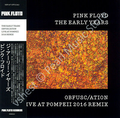 Pink Floyd The Early Years: Obfusc/ation Live At Pompeii 2016 Mix Cd Mini Lp Obi • 9.99£