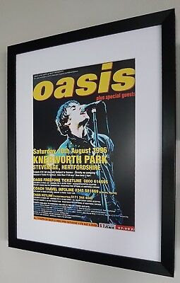 Oasis-Knebworth PRINT Luxury Framed-Certificate-NEW-RARE-Liam Gallagher  • 29.99£