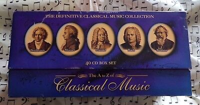 A-Z Of Classical Music 40 CD Box Set • 22.97£