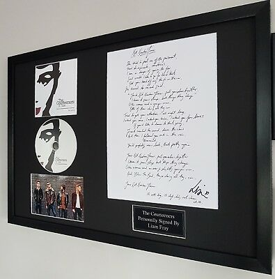 Liam Fray Signed The Courteeners Not Nineteen Forever Songsheet-ST JUDE-RARE • 164.99£