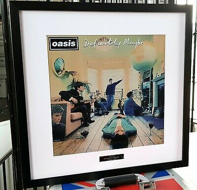Oasis Definitely Maybe Framed Album Cover-Print-Liam Gallagher-Live Forever  • 39.99£