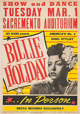 Reproduction Billy Holiday Poster, Home Wall Art, Vintage Print • 12£