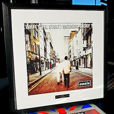 Oasis What's The Story Morning Glory Framed Album Cover-Print-Liam Gallagher • 39.99£