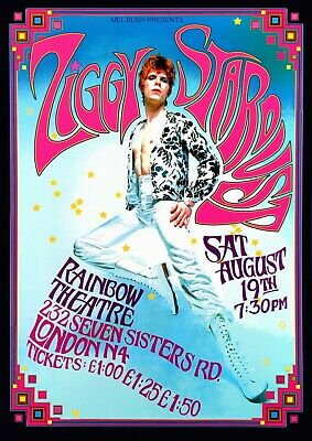 Reproduction David Bowie  Rainbow Theatre  Poster, Home Wall Art, Vintage Print • 12£