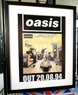 Oasis Definitely Maybe PRINT Luxury Framed-Certificate NEW LIAM Gallagher LARGE  • 44.99£