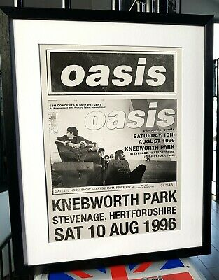Oasis-Knebworth PRINT Luxury Framed-Certificate-NEW-RARE-Liam Gallagher-LARGE  • 35.99£