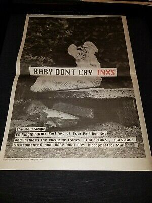 INXS Baby Don't Cry Rare Original UK Promo Poster Ad Framed! • 62.94£