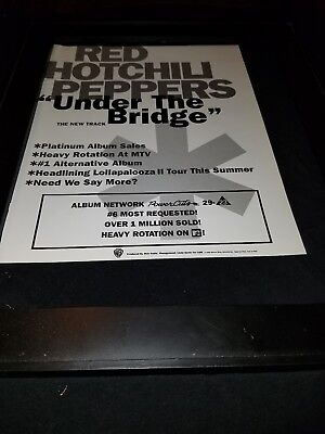 Red Hot Chili Peppers Under The Bridge Rare Radio Promo Poster Ad Framed! #2 • 34.33£
