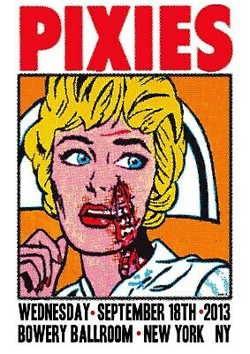 Reproduction Pixies Poster,  Bowery Ballroom , Indie, Home Wall Art • 13.50£