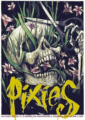Reproduction Pixies Poster,  Columbus, Ohio , Indie, Home Wall Art • 12£