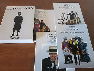 DELUXE SET OF The ELTON JOHN SEPTEMBER 1988 SOTHEBY'S AUCTION CATALOUGES • 200£