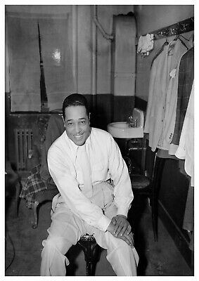 Reproduction  Duke Ellington  Poster, Jazz, Wall Art, Vintage Print • 12£