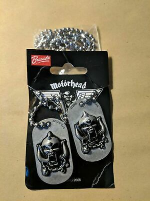 Brand New Motorhead Necklaces, Dog Tags, Pins • 5.50£