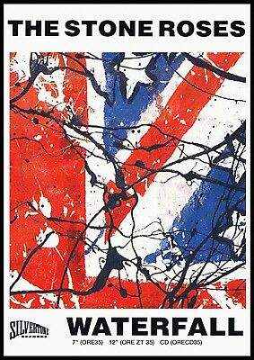 Reproduction The Stone Roses Poster,  Waterfall  Indie, Size: 500 X 400mm • 11£
