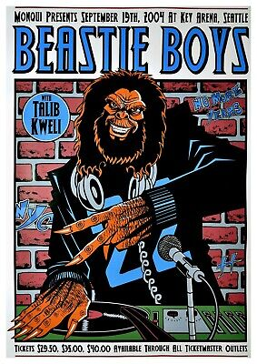 Reproduction  Beastie Boys - Seattle 2004 ,  Poster, Home Wall Art • 12£