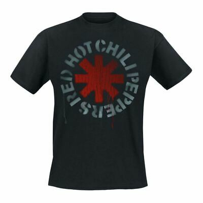 Mens Red Hot Chili Peppers Stencil Logo Black T-Shirt - Unisex Music Tee  • 15.95£