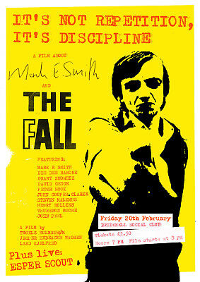 Reproduction The Fall  Film  Poster, Mark E Smith, Manchester, Indie, Size A3 • 9£
