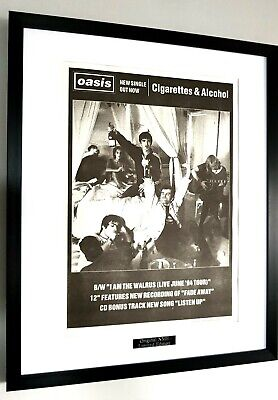 OASIS Framed Original NME-Certificate-Liam Gallagher 1994 Cigarettes And Alcohol • 59.99£
