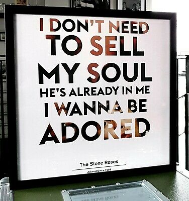 IAN BROWN-THE STONE ROSES Framed Limited Edition Print-I Wanna Be Adored Poster • 34.99£